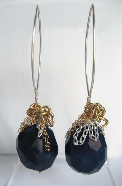 FA1-E001A Dk Blue Agate EarringsLR_IMG_4949