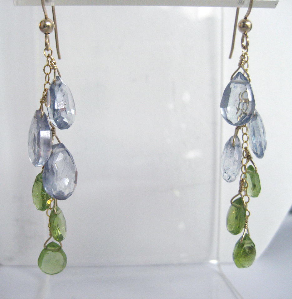 Tanzanite Topaz _ Peridot Cascade Earrings_IMG_5483