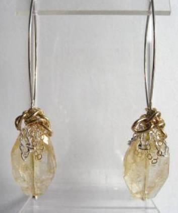 Citrine earring