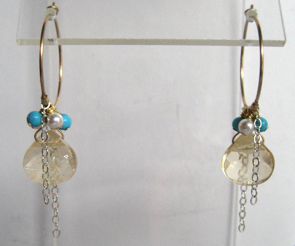 Citrine Turq Pearl Sm Hoop Earrings_IMG_5489
